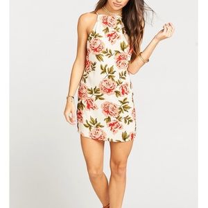 Traveler Dress in Cora Louise Crinkle Stretch